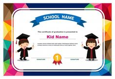 Background Design With Happy Girl And Word Superstar Graduation Certificate Template, Certificate Design Template, Preschool Certificates, Certificate Background, Award Template, Kids Reading Books, Preschool Graduation, Cooking Classes For Kids, Kids Education