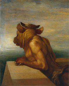dekehlmark:  George Frederick Watts (1817-1904),The Minotaur - 1885