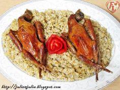 Food Lover مطبخ جوليا العرب: Hamam Mahshy: Egyptian Stuffed Pigeons طريقة الحمام المحشو بالفريك