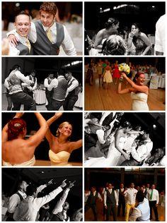 Yellow + Blue Wedding // Reception Details // // Party Pictures // Pensacola, Florida // Sanders Beach Community Center // Kate's Captures Photography