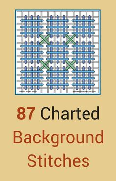 Needlework Guide, 87 charted background stitches for needlework