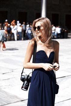Jess doing strapless. lovely. Paris. #JessicaStein #TuulaVintage