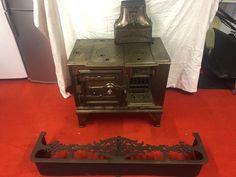 "The ""Belle"" Portable Range Stove & Surrounding Fender, cast iron Cast Iron, It Cast, Stoves, Range, Ebay, Cookers, Stove, Ovens"