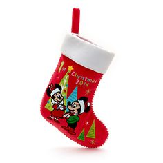 Mickey and Minnie Mouse '1st Christmas 2014' Stocking
