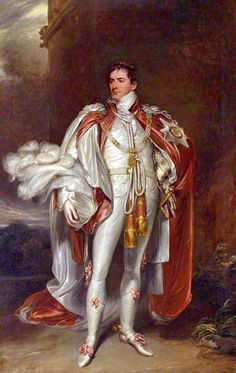 Everything about this painting screams GIT!  The humungous Star (I'm sure they aren't usually the size of a dinner plate), the white satin, the plumage on that hat (turban?), the white leather boots with pink ribbons and spurs, but most startling of all those dangling gold tassels! The Honourable Sir Arthur Paget (1771–1840), GCB, PC [Pretty Conceited?], ca.1804 by John Hoppner. Git Extraordinaire!