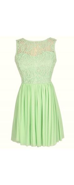 Ready For Romance Crochet Lace Dress in Bright Green