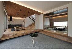 Step-up Floor: Japanese Style House, Japanese Interior Design, Japanese Home Decor, Style At Home, Interior Styling, Interior Decorating, Zen Interiors, Tatami Room, Japan Design