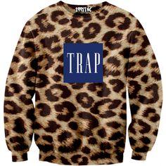 Leopard Trap Sweater    #1991inc #leopard #trap #sweater