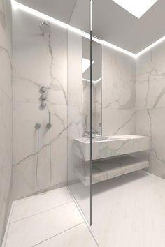 Modern Shower Tile Cool Modern Shower Design Ideas With Marble Tile Modern Bathroom Shower Tile Ideas Contemporary Bathrooms, Modern Bathroom Design, Bathroom Interior Design, Modern Interior, Marble Interior, Luxury Bathrooms, Luxury Interior, Modern Design, Bad Inspiration