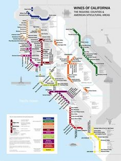 Map of California Wine from CCA Faculty David Gissen