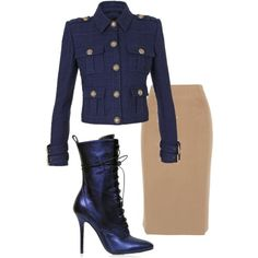 A fashion look from November 2014 featuring Balmain jackets and Altuzarra skirts. Browse and shop related looks.