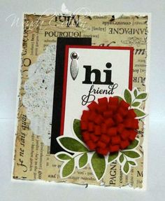 Card by Wanda Cullen using Verve Stamps.  #vervestamps #mojomonday