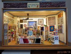 KathieB's Minis: Quilt Shop Room Box