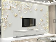 D Living De custom wallpaper for living room jewelry large scale