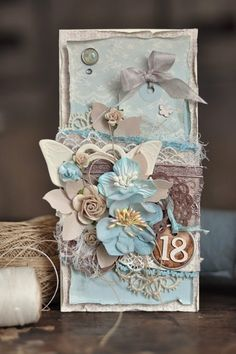 Super Ideas Vintage Cards Hand Made Shabby Happy Birthday Vintage Cards, Vintage Paper, Vintage Wedding Colors, Shabby Chic Cards, Beautiful Handmade Cards, Vintage Birthday, Card Tags, Gift Tags, Handmade Birthday Cards