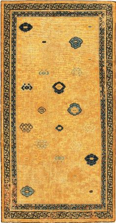 CHINESE CARPETS | Antique 17th C Ningsia Chinese Oriental_Rug from Nazmiyal