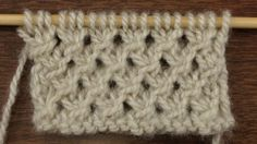 How to Knit the Make Knot Stitch.