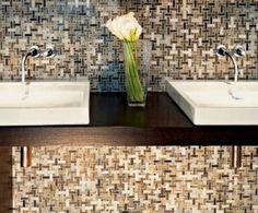 Brown Mosaic Bathroom Tile Design : Mosaic Bathroom Design – Better Home and Garden