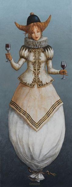 Catherine Chauloux  -  Le verre à moitié vide ou à moitié plein !