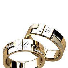 alianças de casamento e noivado Diamond Rings, Diamond Engagement Rings, Couple Ring Design, Couple Bands, Unique Wedding Stationery, Gold Rings Jewelry, Diamond Design, Antique Rings, Wedding Ring Bands