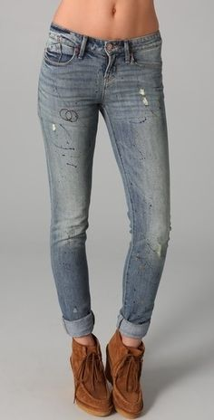 Marc by Marc Jacobs Standard Supply Standard Supply Rolled Slim Jeans - StyleSays