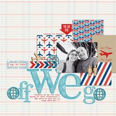 """Off We Go"" by Cristina, as seen in the Club CK Idea Galleries. #scrapbook #scrapbooking #creatingkeepsakes"