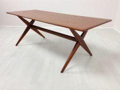 Retro Vintage 1950's style teak coffee table inspired by the Hans Wegner design | eBay