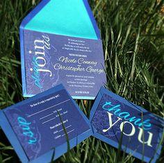 Peacock wedding invitation printable