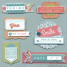 Cre8n' Memories: Scrapbook Candy could make thiese with small talk Frames and tags