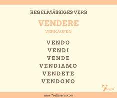 """Italienische Verben: Das Verb """"vendere"""" ist ein regelmäßiges Verb auf -ere. Es bedeutet verkaufen."""