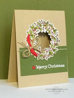 this handmade christmas card has a surprise with a peek a boo center - Create Christmas Cards