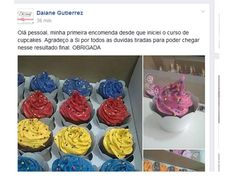 (dup) Cupcake da Si para Iniciantes 2.0 — Confeitaria OnLine Oficial Cupcakes Flores, Chips, Nutella, Desserts, Sweet Recipes, How To Make Candy, Fluffy Cupcakes, Cupcake Recipie, Bolo De Chocolate