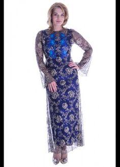Black lace dress with embroidery Big Size Fashion, Plus Size Stores, Plus Size Women, Plus Size Outfits, Lace Dress, Embroidery, Formal Dresses, Collection, Tricot