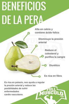 Infografia de los beneficios y propiedades de la pera. #Infografia #Dieta #nutricion #Fitness #Pera #nutricioninfografia