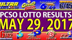 NO JACKPOT WINNER ********** Watch the PCSO lotto results video today, May 2017 (Wednesday). The lotto games that are featured in this video are … Lotto Results, Lotto Games, Jackpot Winners, Lottery Tips, Oita, May, Youtube, June, Wednesday