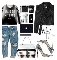 """""""Keys To The Streets"""" by tamaramanhardt ❤ liked on Polyvore featuring Chanel, Jimmy Choo, Maison Kitsuné, Vetements, By Terry, MAKE UP FOR EVER, NARS Cosmetics, Casetify and Aesop"""