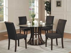9e886a429b17 Elegant Glass Dining Table with Extraordinary round glass dining table top Dining  Table Chairs
