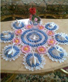 Ms.crochet: Swan lake doily