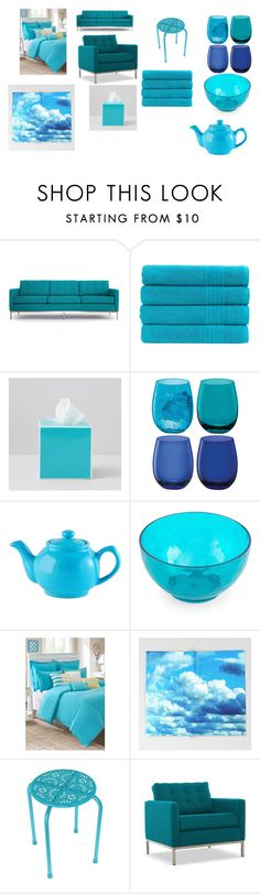 """""""My Blue Home"""" by breezybrebre ❤ liked on Polyvore featuring interior, interiors, interior design, home, home decor, interior decorating, Joybird, Christy, Kassatex and LSA International"""