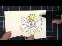 http://kathleenstamps.com  --  Watercoloring made easy with Stampin' Up! blender pens and markers. - YouTube
