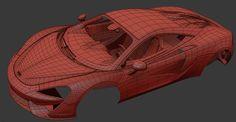 Mclaren 570s modeling process on Behance