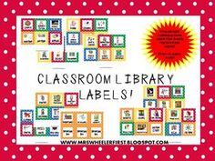 This is awesome! Includes library bin labels plus labels for inside books to organize! Plus, she's willing to change the colors to match your classroom! Library Book Labels, Classroom Library Labels, Book Bin Labels, Book Bins, Classroom Setup, Library Books, School Projects, School Ideas, Library Organization