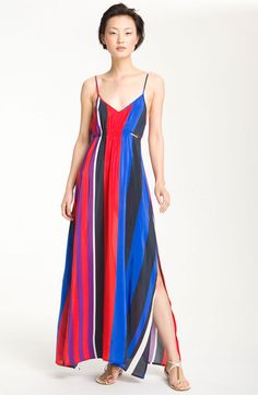 Charlie Jade 'Madison' Stripe Silk Maxi Dress