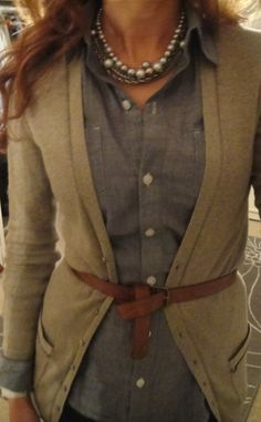 With camel boots to match the belt - yes please!