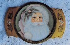 "Margot Clark OOP vintage tole painting pattern ""Pastel Santa on Plate"" Tole Painting Patterns, Painted Plates, Decorative Plates, Santa, Pastel, Crafts, Vintage, Home Decor, Cake"