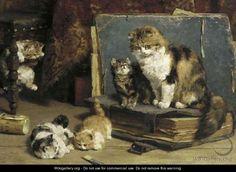 Charles Van Den Eycken (Bélgica,1859-1923). La mere bien veillante