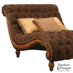 Dinah Chenille Chaise-and-a-Half | Fit for a King #RaymourandFlanigan