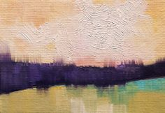 """ACEO Oil Painting """"Abstract Landscape"""" Original Fine Art Easel Art"""