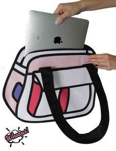 Bolsa 2D Puddin - Pink (ref. BL001A)  #whoops2dbags #bolsa2D #bolsa3D #fundesign #cartoonbag