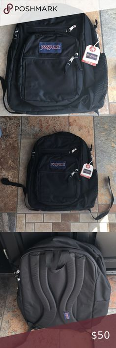 STAINS JanSport Big Student Backpack School Briefcase Blue Streak Free S//H